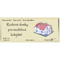 Rodinné domky pro modelová kolejiště