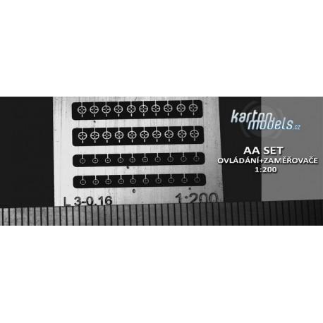 AA SET zaměřovače+ovládání 1:200
