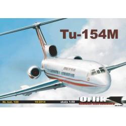 Tupolew Tu-154M + kostra vyřezané laserem