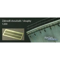 Zábradlí dvouřadé / sloupky