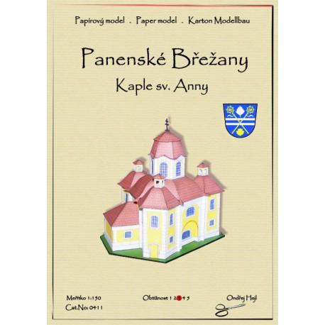 Panenské Břežany - Kaple sv.Anny